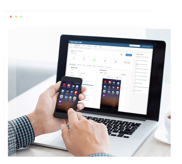 Remotely manage Android devices